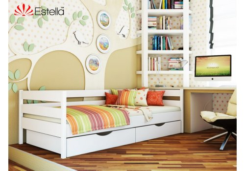 Деревянная кровать Нота цвет 107 (Белая) щит 80*190