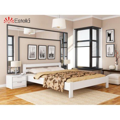 Деревянная кровать Рената цвет 107 (Белая) щит 80*190