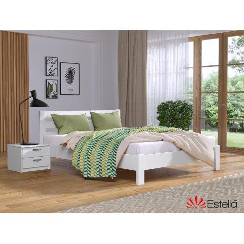 Деревянная кровать Рената Люкс цвет 107 (Белая) щит 80*190