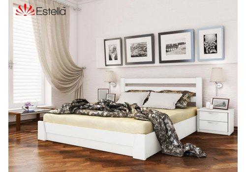 Деревянная кровать Селена цвет 107 (Белая) щит 120*190