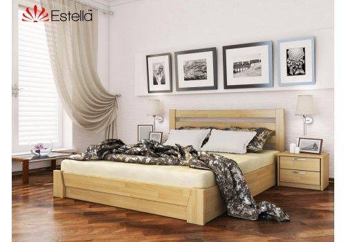 Деревянная кровать Селена Бук щит 120*190