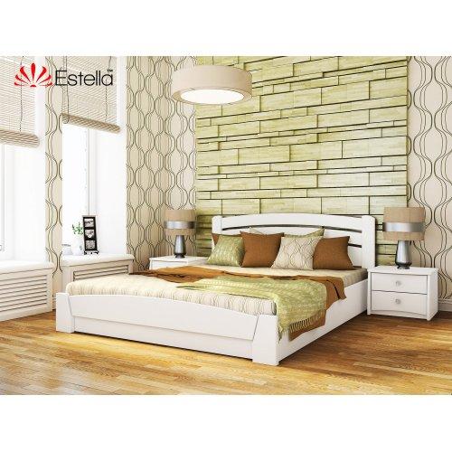 Деревянная кровать Селена Аури цвет 107 (Белая) щит 120*190