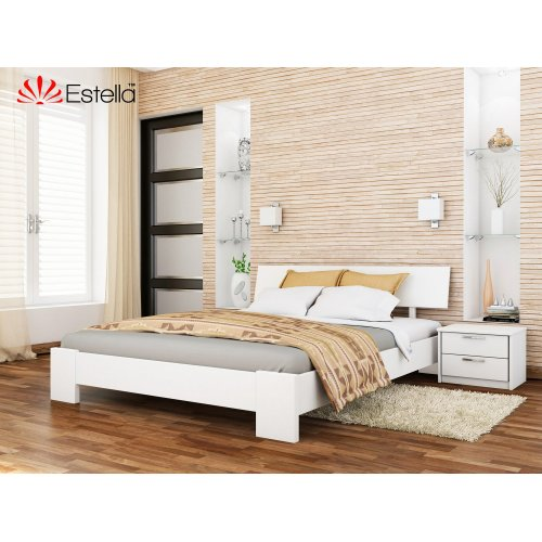 Деревянная кровать Титан цвет 107 (Белая) щит 120*190