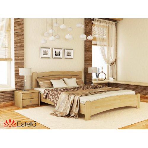 Деревянная кровать Венеция Люкс Бук щит 80*190