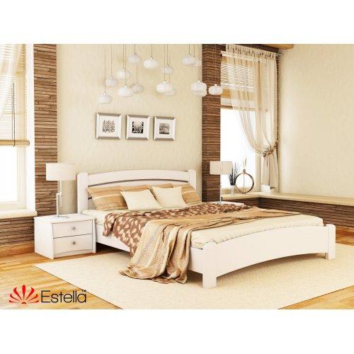 Деревянная кровать Венеция Люкс цвет 107 (Белая) щит 80*190