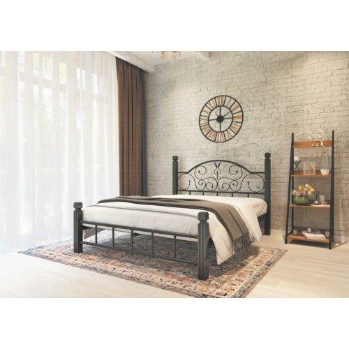 Кровать Анжелика с деревянными ногами 140х190