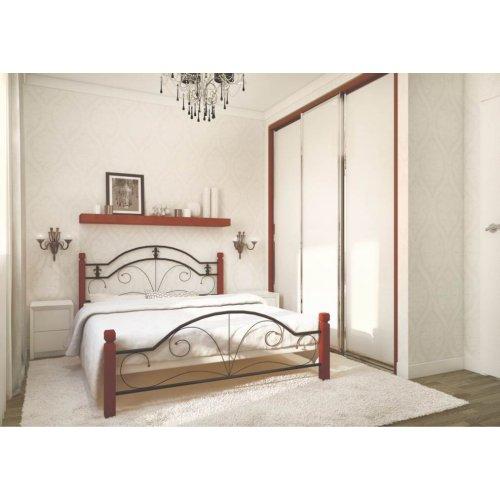 Кровать Диана с деревянными ногами 80х190