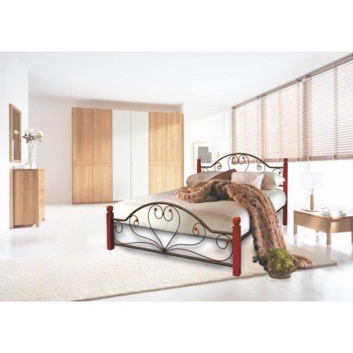 Кровать Джоконда с деревянными ногами 140х190