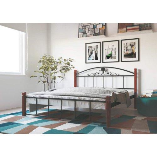 Кровать Кассандра с деревянными ногами 140х190