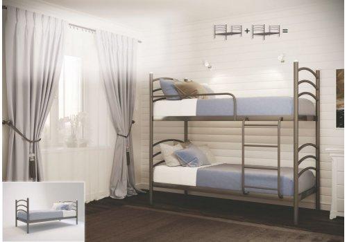 Кровать двухъярусная разборная Маргарита 80х190