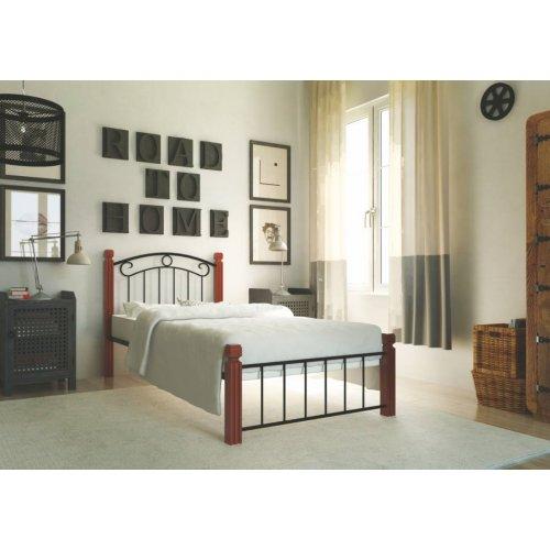 Кровать Монро с деревянными ногами 80х190