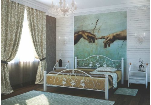 Кровать Жозефина с деревянными ногами 140х190