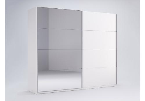 ШАФА-КУПЕ Фемелі 1,5м (*Двері Глянець/Дзеркало*) колір Глянець Білий MiroMark