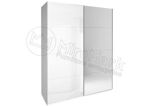 ШАФА-КУПЕ Імперія 1,5м (*Двері Глянець Білий/Дзеркало*) колір Глянець Білий MiroMark