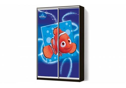Шкаф-купе 2 двери ФМП/ФМП рисунок Ds023  Классик-2 100*200*45