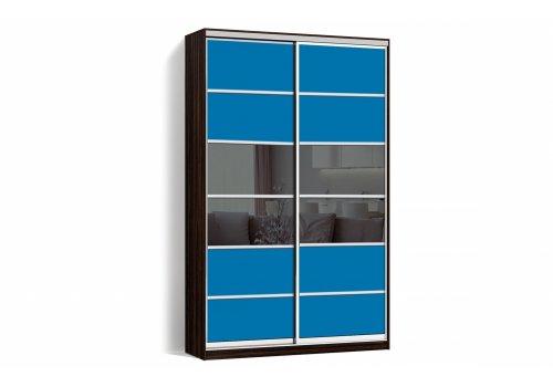 Шкаф-купе 2 двери Стекло тонированное/Стекло тонированное 2038-2038 цвет Венге Классик-2 100*200*45