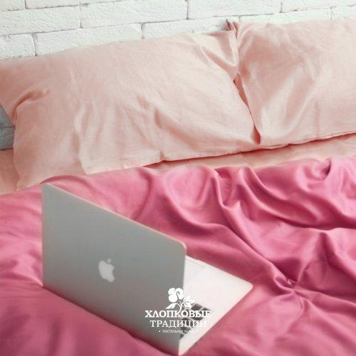 Комплект постельного белья Хлопковые Традиции дизайн 13 • Сатин • Полуторный Сатин Турция • 100% Хлопок • Наволочки 50х70