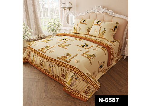 Комплект постельного белья N-Tex дизайн n-6587 • Бязь Голд • Полуторный Бязь Голд Пакистан • Хлопок • Наволочки 70х70